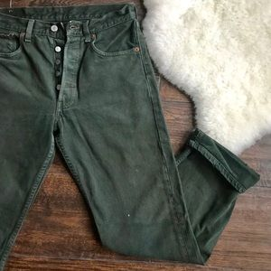 Vintage Levi's 501 Olive Green Button Fly Jeans